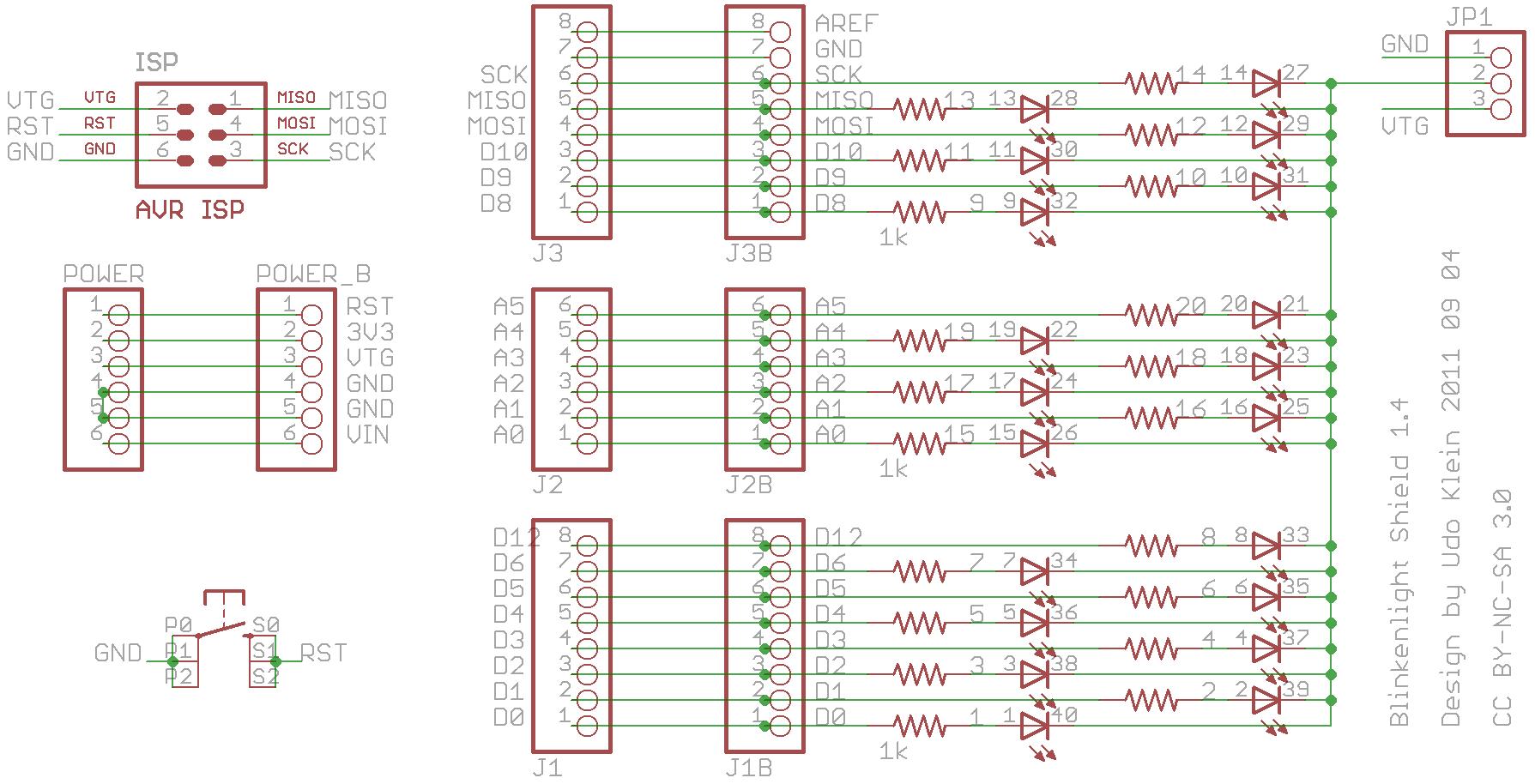 Blinkenlight Shield Schematic June 2011 Electronic Schematics