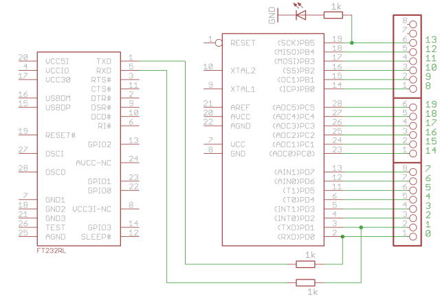 Simplified Arduino Schematics