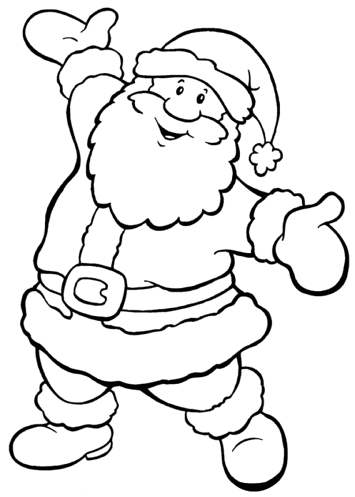 christmas santa claus coloring pages free printable - 621×862