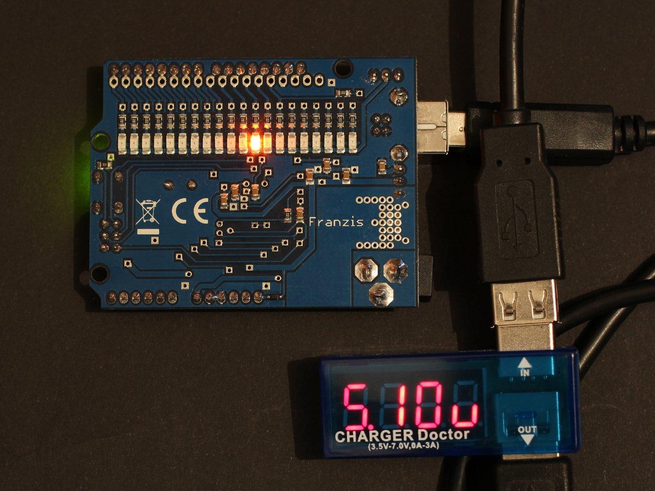 Usb Voltage Monitor Blinkenlight