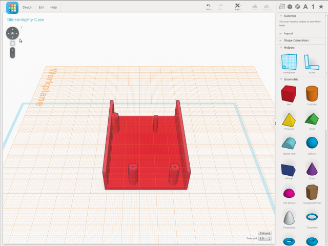 Blinkenlighty Case Tinkercad